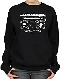 Ghetto Blaster Old School Urban Hip-Hop Womens Sweatshirt