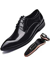 73d3f721adf23 Derby Amarillo Negro Zapatos De Hombre Británico Puntiagudos Negocios  Trabajo Fiesta Zapatos De Boda Caballero