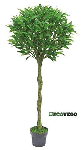 Decovego Olive Olivenbaum Olivenbusch Kunstpflanze Kunstbaum Künstliche Pflanze mit Echtholz 150cm