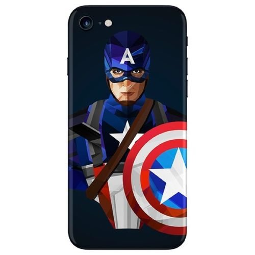 GADGETS WRAP Apple iPhone 7 Printed Skin for Back – Captain America.