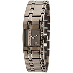 Zzero zz5002l Ladies Quartz Stainless Steel Watch Strap Quandrante Brown