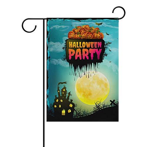 en Party Moon Home Garden Indoor/Outdoor Flags 18