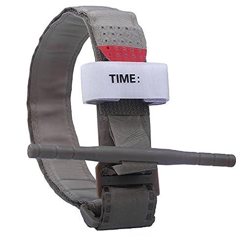 Tourniquet: Tactical Tourniquet Kampf Anwendungs für Blutverlust Kontrolle und Military Medizinische Notfall, Erste-Hilfe-Reaktion, Wandern und Notfall Kits (Bräunen, 1 Pack)
