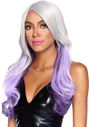 Leg Avenue Allure Perücke lang grau-lila (Haare Für Halloween-kostüm Lange Männer)