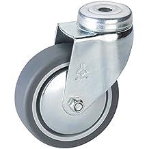 791140 D/örner 45 x 17 mm, Kunststoff Rad Helmer M/öbel-Bockrolle grau