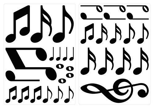 I-love-wandtattoo adesivo murale set camera bambino nota musicale in nero pezzi