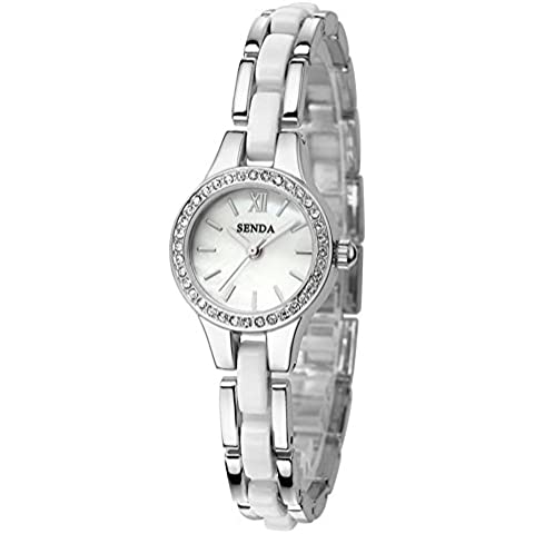 Moda donna quarzo ceramica orologio orologio da polso , 1