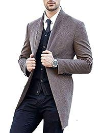 Blusón De Los Hombres Blazer De Manga Larga Solapa Moda Ropa Trench Abrigos Coat Primavera Otoño