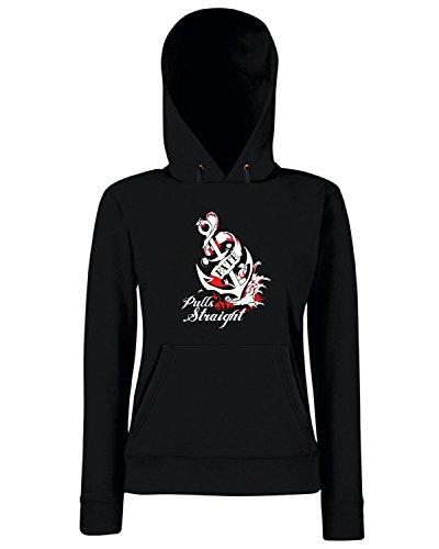 T-Shirtshock - Sweats a capuche Femme T0600 pull straight fun cool geek Noir