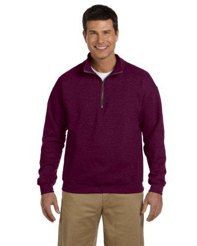 intage quarter-zip Cadet Halsband Sweatshirt, kastanienbraun -  rot -  ()