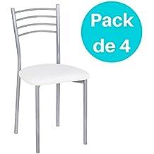 a4e2d7f7e5322 Noorsk Design Lote de 4 sillas de Cocina París
