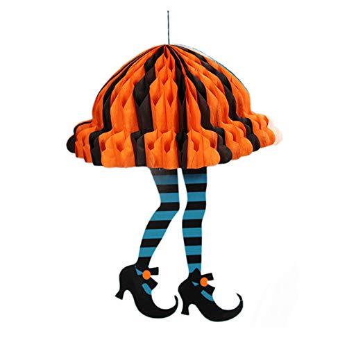 Heetey Halloween Dekoration 1 stücke Halloween Requisiten Papier Durable Anhänger Tag für Ghost Festival KTV Bar Garten Fledermäuse Halloween Fenster Vorhang Spooky Tür für Halloween (Spooky Ghost Kostüm)