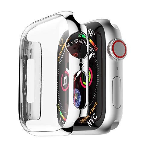 TianranRT Ultra Dünn PC Überzug Fälle Schützend Stoßstange Fall Abdeckung Dünne Plattierung Fällen Schutzstoßkasten-Abdeckung für Apple Watch 4 40/44mm -