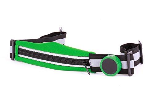 Helio Ferretti 120809-Running Gürtel mit Licht, Unisex Erwachsene, mehrfarbig, Einheitsgröße