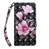 ZCXG Compatible with Lenovo C2 Case Pink Flower Clear