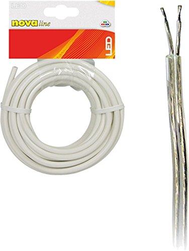 Nova Line cmt010Kabel 2polig für Bänder, transparent, 10m -