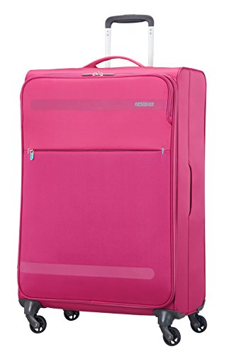 American Tourister Herolite Super Light Spinner Valigia, 74 cm, 95 litri, Bubble Gum Pink