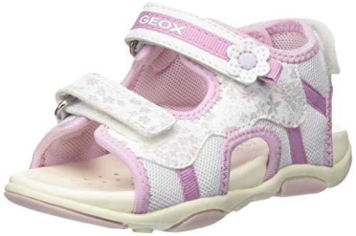 Geox Baby Agasim Girl, Sandali Bimba, Bianco (White/Pink C0406), 23 EU