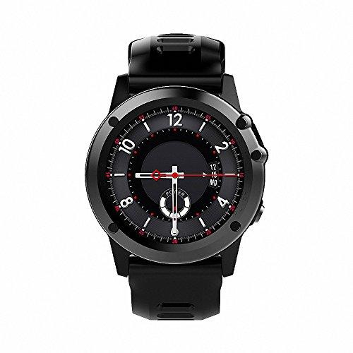 Smartwatch Android, H1 JM01 Smart Uhr Phone 3G WCDMA,1.39 Zoll Bildschirm, 4GB RAM + 512MB ROM, 5MP Kamera, WiFi Bluetooth, GPS, Schrittzähler, Herzfrequenz, Anruf Erinnerung, Unterstützt SIM Karte