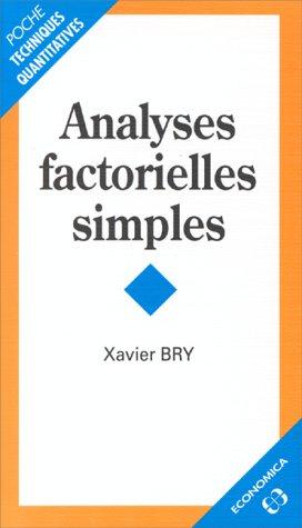 Analyses factorielles multiples