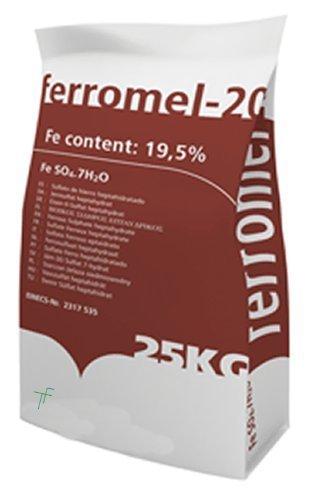 MELSPRING FERROMEL 20 Sulfate de Fer 25 kg Premium Gazon Après-shampoing et Gazon Feed – Sulfate ferreux/Sulfate de Fer – Facile dissout Spray, Facile, Facile Propagation