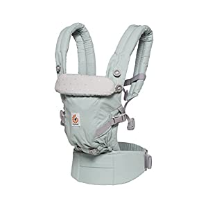 Ergobaby Baby Carrier for Newborn to Toddler up to 20kg, Adapt Frosted Mint 3-Position Ergonomic Child Carriers Front Backpack   15