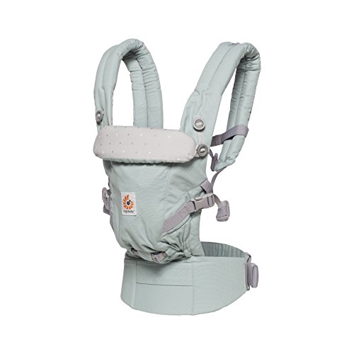 Ergobaby Baby Carrier for Newborn to Toddler up to 20kg, Adapt Frosted Mint 3-Position Ergonomic Child Carriers Front Backpack  Ergobaby