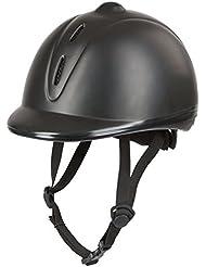 Casco de equitación Covalliero Econimo VG1, todo el año, unisex, color Negro - negro, tamaño 53-57 cm