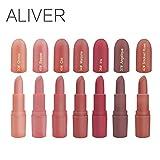 Aliver Matte Lippenstift und Lip Gloss 7 Farben