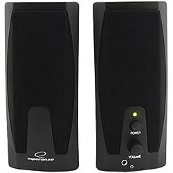 Esperanza GIOCOSO Multimedia Stereo PC Lautsprecher Computer Boxen mit AUX-Eingang und Lautstärkenregulierung