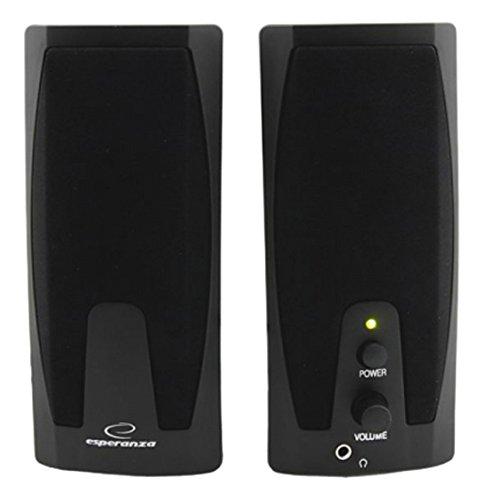 Multimedia-computer-lautsprecher (Esperanza GIOCOSO Multimedia Stereo PC Lautsprecher Computer Boxen mit AUX-Eingang und Lautstärkenregulierung)