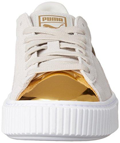 Puma Suede Platform Gold 36222201, Turnschuhe gold/star white