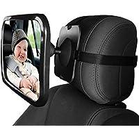 Espejo Retrovisor Coche de Bebé para Vigilar al Bebé en Coche 360° Ajustable Irrompible