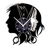 Instant Karma Clocks Orologio da Parete Disco in Vinile Parrucchiere Uomo Donna Barbiere Barber Shop, Vintage, Handmade