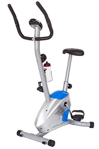 TechFit Velocity Magnetisches Fitness Fahrrad Ergometer - Cardio - Fitnessfahrrad mit einstellbarem Sattel, Puls-Sensoren und LCDMonitor. Resistenter Heimtrainer für die perfekte Figur