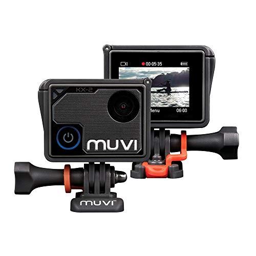 Veho Muvi KX-2 NPNG Action-Kamera, KX-Serie, Freisprecheinrichtung, WiFi, 32 GB microSD-Karte, 4k Action Cam, 12MP Foto, 4k30 / 1080p100, wasserdichtes Gehäuse (VCC-009-KX2-NPNG) - Muvi-kamera