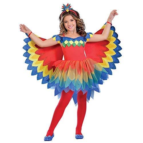Kostüm Vogel Roter Flügel - Bunte Papageien-Fee - Papagei Kinder Mädchen Amscan