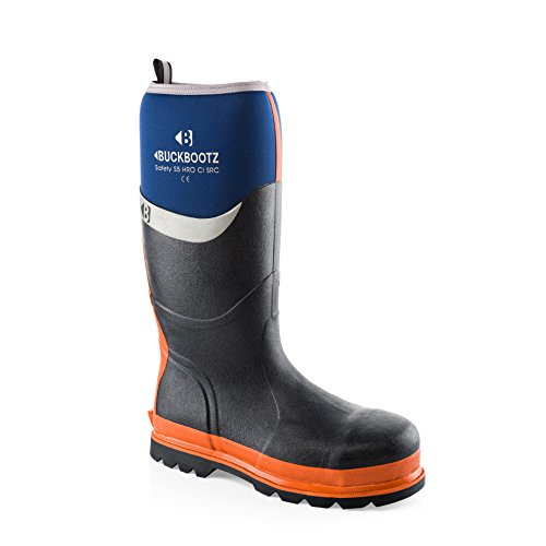 Buckler BBZ6000 Waterproof Rubber Safety Wellington Boots Black, Green, Blue and Orange (Sizes 5-13) Men
