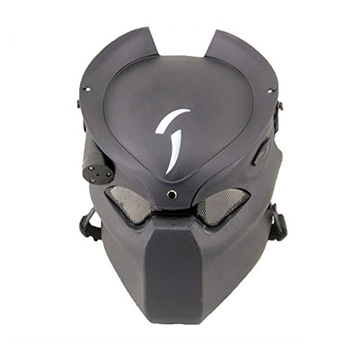 Taktische schützende Paintball Airsoft Metall Mesh Alien und Predator CS Feld Infrarot-Lampe Full Face Maske WorldShopping4U