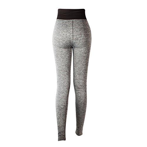 Glamexx24 Damen Workout Sporthose Yoga Pants Fitness Jogginghose Training Leggings Stretch Hose Braun21