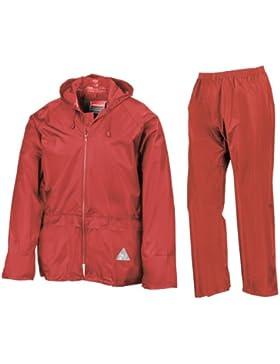 Result Traje Impermeable/Conjunto Impermeable/chubasquero 2 piezas (conjunto chaqueta y pantalón) Grueso
