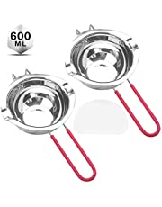 Tebery 2 Pack Stainless Steel Universal Melting Pot Double Boiler for Butter Chocolate Cheese Caramel (600 ML)