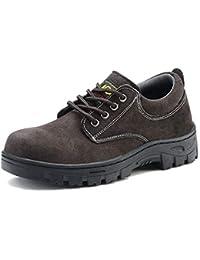 ZYFXZ Zapatos de Seguridad Puntera de Acero de Alta Temperatura Anti-aplastante Anti-perforante Soldador Zapatos Usar Zapatos de…