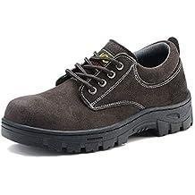 ZYFXZ Zapatos de Seguridad Puntera de Acero de Alta Temperatura Anti-aplastante Anti-perforante