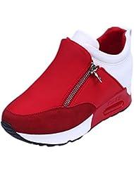 Zapatillas Deportivas de Mujer,YiYLunneo Women Fashion Sneakers Zapatillas Deportivas Correr Senderismo Fondo Grueso Shoes