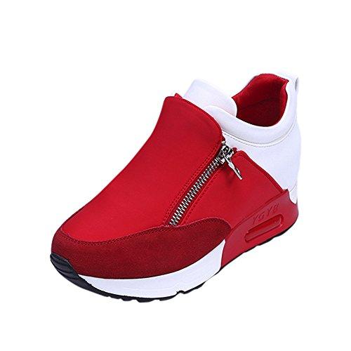 Meilleure Vente!Baskets à Plateforme,LuckyGirls Femme Sneaker Mode Baskets en Mesh Respirant Chaussures Plates Mode Hiver Talon Compensé Plateforme Ankle Boots 35-42