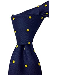 Blacksmith Blue Polka Dot Tie for Men - Navy Blue Tie for Men - Blue Formal Tie For Men - Blue Tie for Men