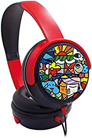 Trands Kids Headphones Over-Ear Kids Headset with 3.5mm Plug Microphone Foldable and Wired Headphone for Child