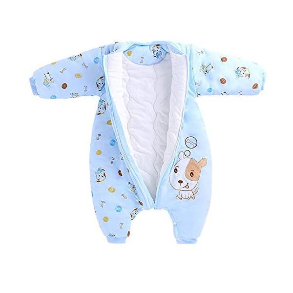 Saco de dormir para bebé de 3,5 tog azul azul Talla:XL/recommended baby tall 35.5″-39.5″