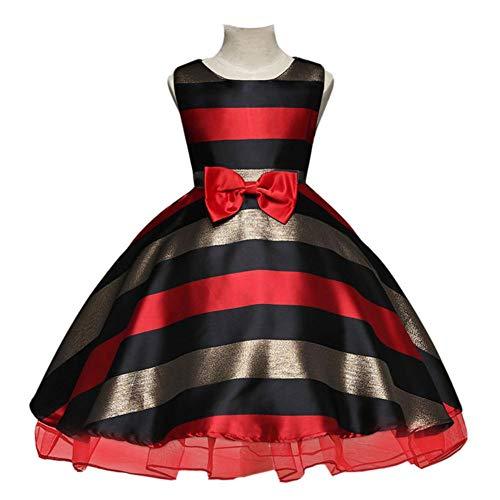 QINJLI Kinder Kleid Mädchen Kleid gestreiften Prinzessin Kleid Tutu Halloween-Party-Kleid (Halloween Tutus Für)